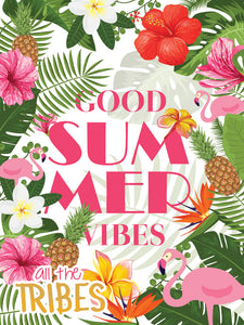 Poster Good Summer Vibes Flores All The Tribes XX10967CP