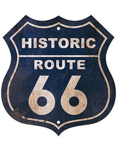 Decor Home - Placa - Historic Route 66 Litoarte lto-dhpm-022