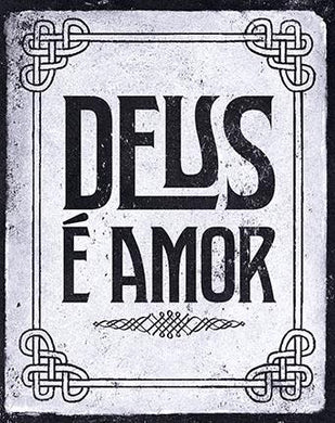 Decor Home - Placa - Deus É Amor LTO-DHPM-062