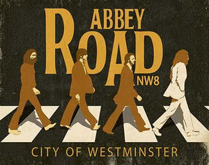 Decor Home - Placa - Abbey Road Nw8... Litoarte lto-dhpm-265