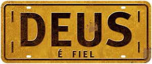 Decor Home - Placa - Deus É Fiel LTO-DHPM2-053
