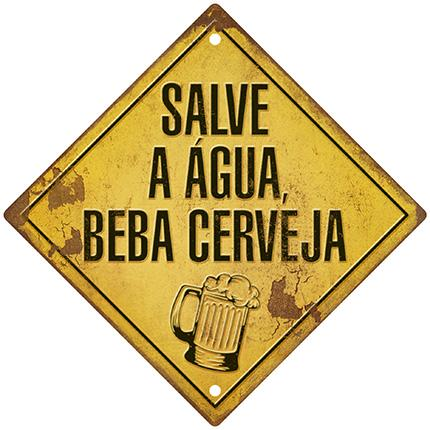 Decor Home - Placa Salve A Agua Litoarte lto-dhpm5-217