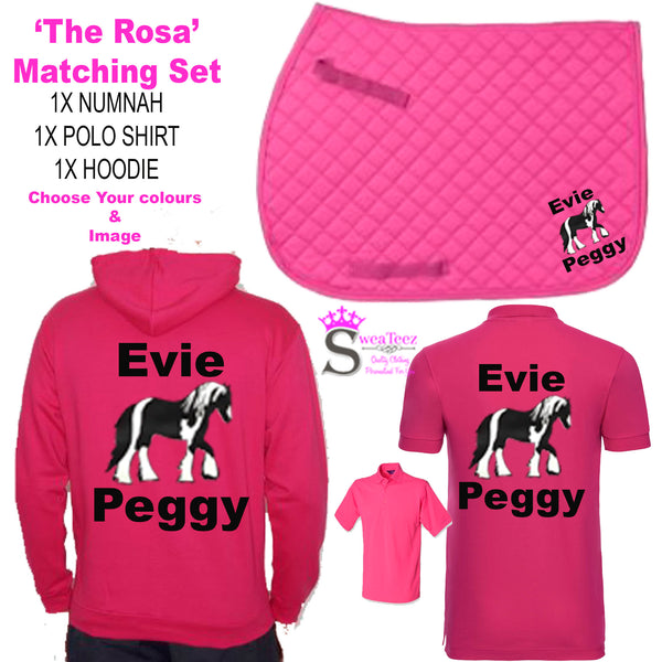 "Personalised Matching Set ""The Rosa"" Design"