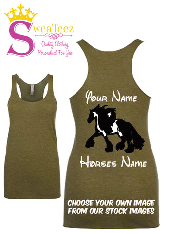 Personalised Ladies Racer Back Tank Top