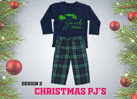 Christmas PJ's -  I Believe ... Baby Sizes