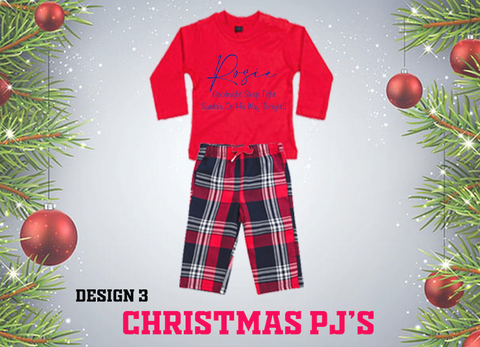 Christmas PJ's -  Sleep Tight ... Baby Sizes