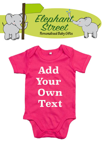 Personalised Own Text...Baby Vest