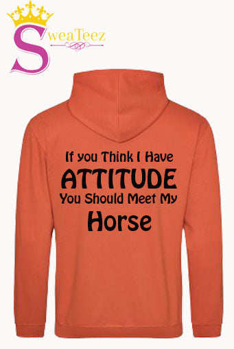 If you think i have attitude.... Slogan hoodie