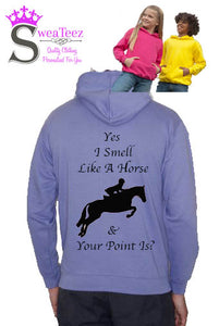 Kids Yes i smell like a horse  Hoodie
