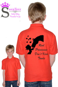 Childs Real Princesses don't kiss toads... Polo Shirt