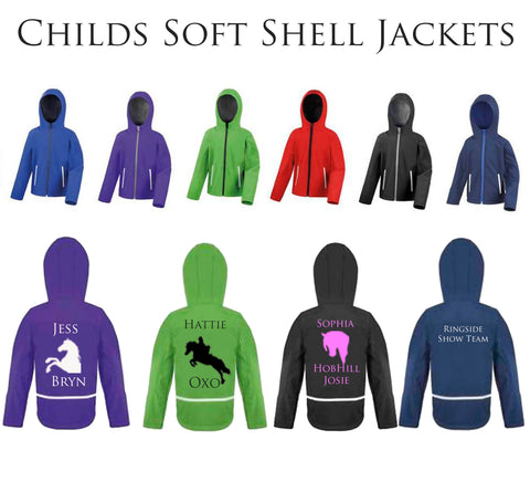Childs Hooded Personalised Soft Shell Jacket