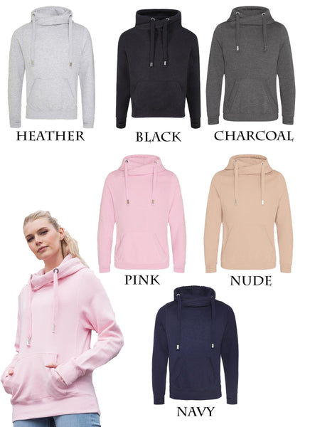 Personalised Cross Neck Hoodie