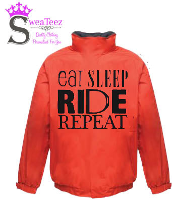 Eat Sleep Ride Repeat  .... Adults Blouson Coat