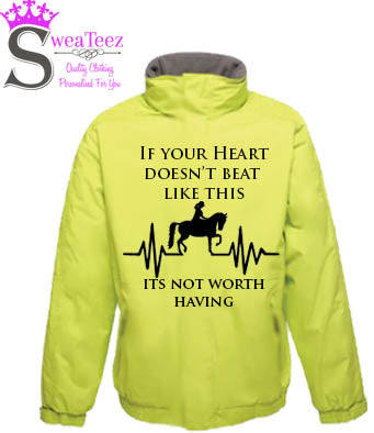 If your Heart Doesn't Beat  .... Adults Blouson Coat