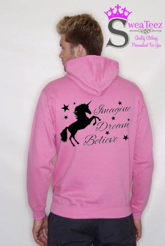 Imagine Dream Believe.. Slogan Hoodie