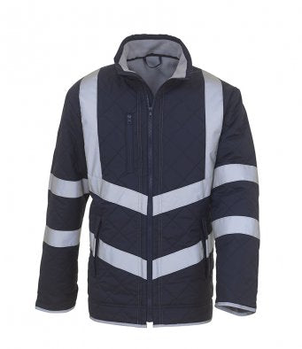 Personalised High Viz Quilted Coat