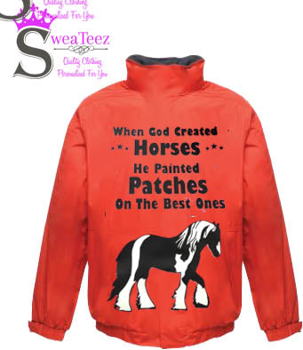 When god Created Horses .... Adults Blouson Coat
