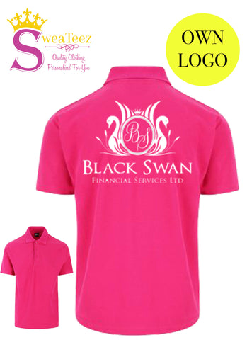 Own Business Logo Printed Polo Shirt - UNISEX SIZES