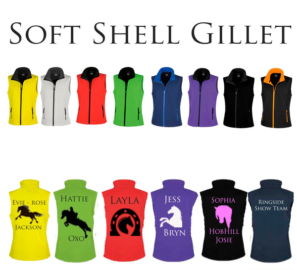Personalised Soft Shell Gillet - UNISEX Sizes