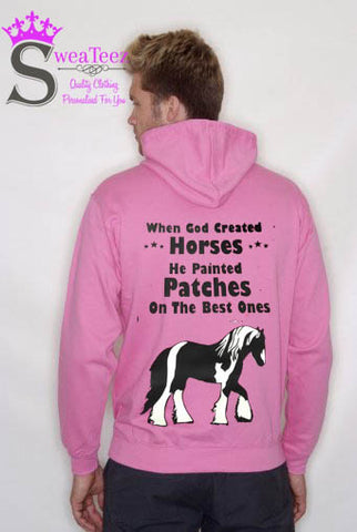 When god created horses... Slogan Hoodie