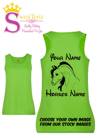 Personalised Performance Vest Top