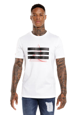 Marveli Hideaway Designer White T Shirt with Branded Logo on the Front