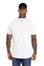 Back View Of The Marveli Wings White Printed T shirt with Logos