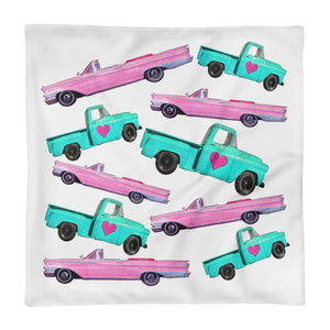 Vintage Chevy Pillow Cover