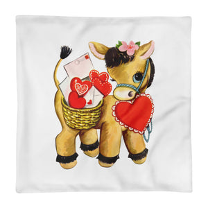 Love Donkey Pillow Cover