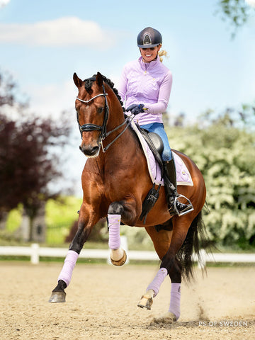 PS of Sweden New Soft Lilac Dressage Saddlecloth, Polo Wraps and Jacket