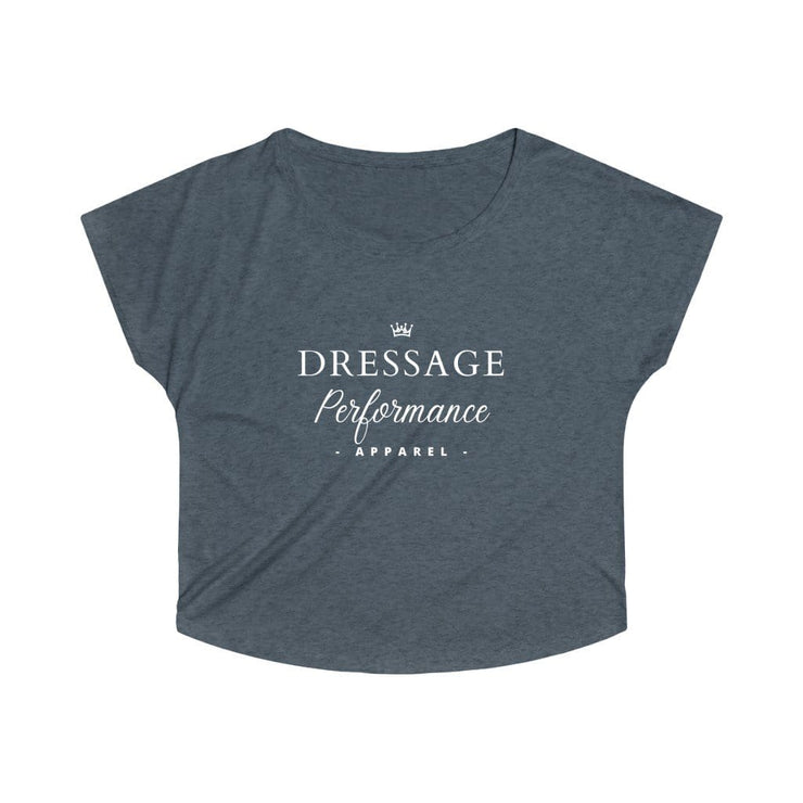 Printify T-Shirt S / Tri-Blend Vintage Navy Dressage Performance Apparel Oversized Tri-Blend Tee