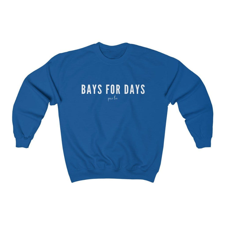 Printify Sweatshirt Royal / S Bays for Days Sweatshirt