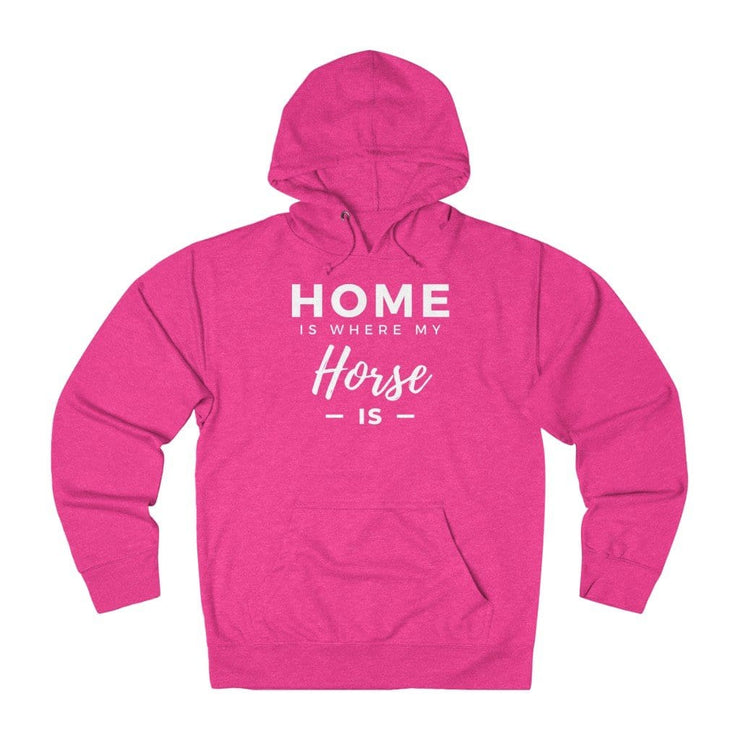 Printify Hoodie Heliconia Heather / XS Home is Where My Horse Is Lightweight Premium Hoodie