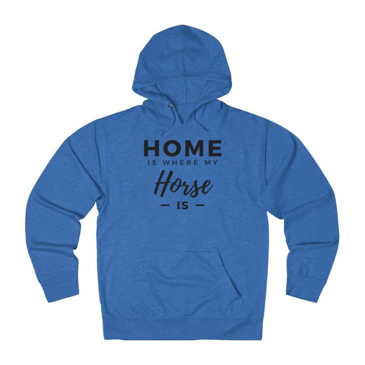 Printify Hoodie Royal Heather / XS Home is Where My Horse Is Lightweight Premium Hoodie