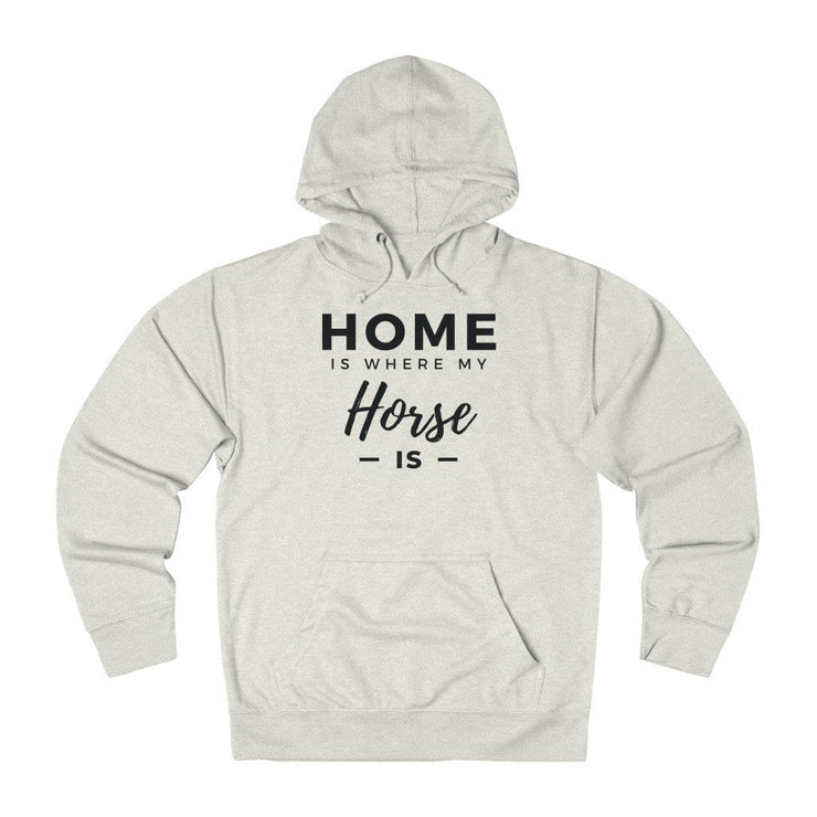 Printify Hoodie Oatmeal Heather / XS Home is Where My Horse Is Lightweight Premium Hoodie