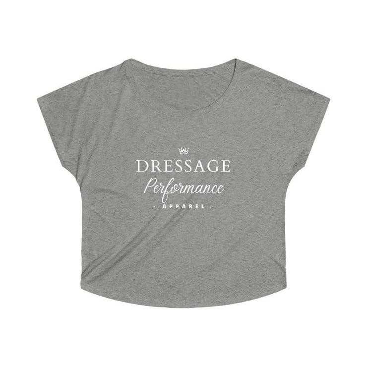 Dressage Performance T-Shirt S / Tri-Blend Venetian Gray Dressage Performance Apparel Oversized Tri-Blend Tee