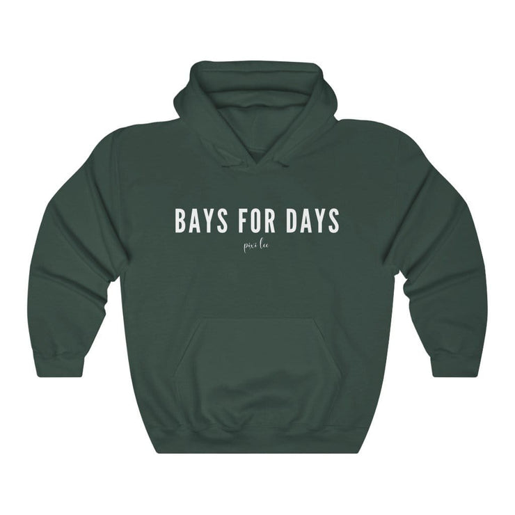 Printify Hoodie Forest Green / S Bays for Days Hoodie