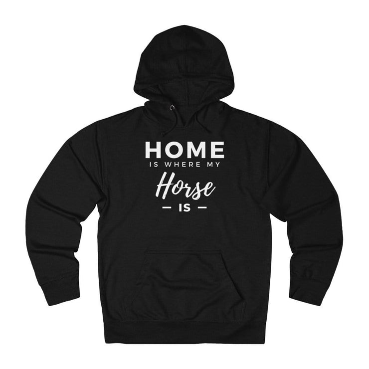 Printify Hoodie Black / XS Home is Where My Horse Is Lightweight Premium Hoodie