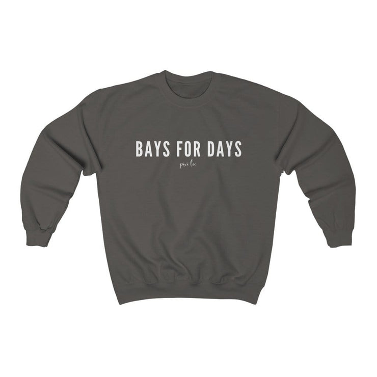 Pixi Lee Sweatshirt Charcoal / S Bays for Days Sweatshirt