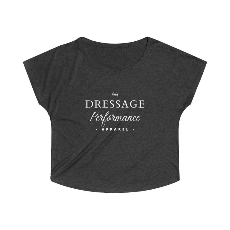 Printify T-Shirt L / Tri-Blend Vintage Black Dressage Performance Apparel Oversized Tri-Blend Tee