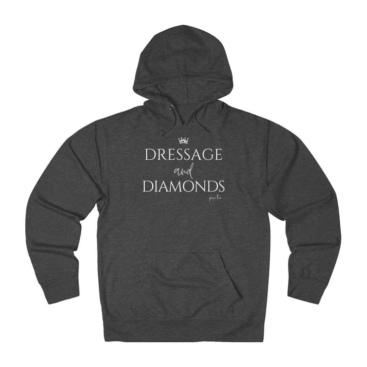Printify Hoodie Charcoal Heather / XS Dressage & Diamonds Lightweight Premium Hoodie