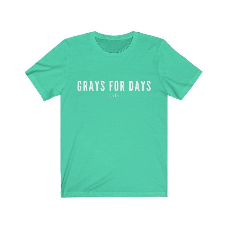 Printify T-Shirt Heather Mint / S Grays for Days T-Shirt