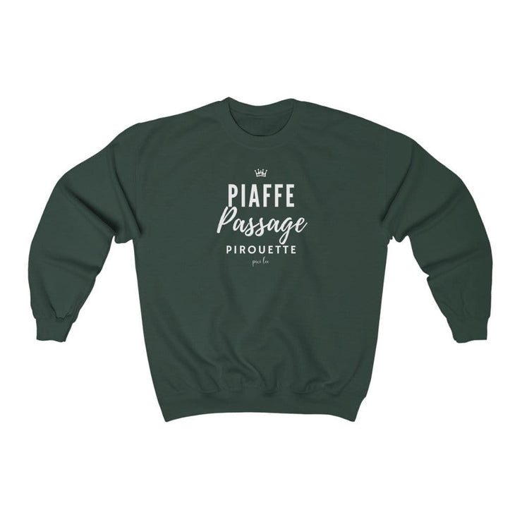 Printify Sweatshirt Forest Green / S Piaffe Passage Pirouette Sweater
