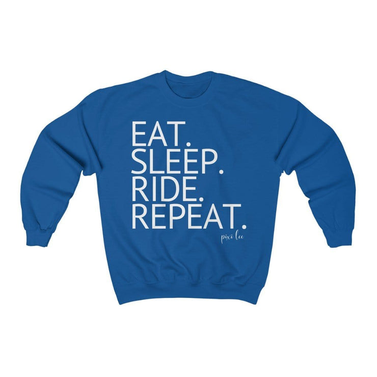 Printify Sweatshirt Royal / S Eat. Sleep. Ride. Repeat. Sweater