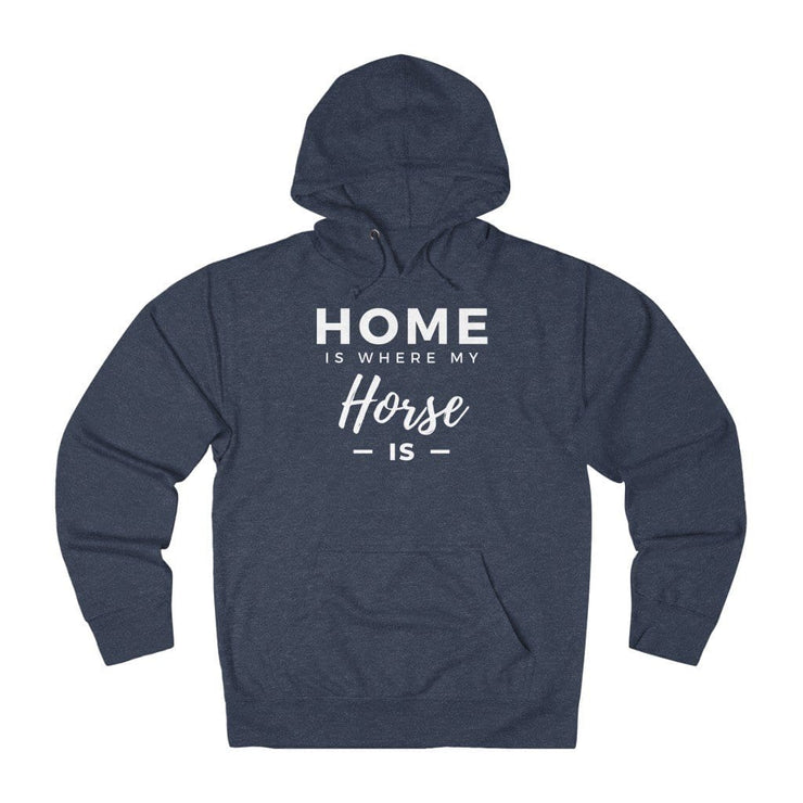 Printify Hoodie Denim Heather / XS Home is Where My Horse Is Lightweight Premium Hoodie
