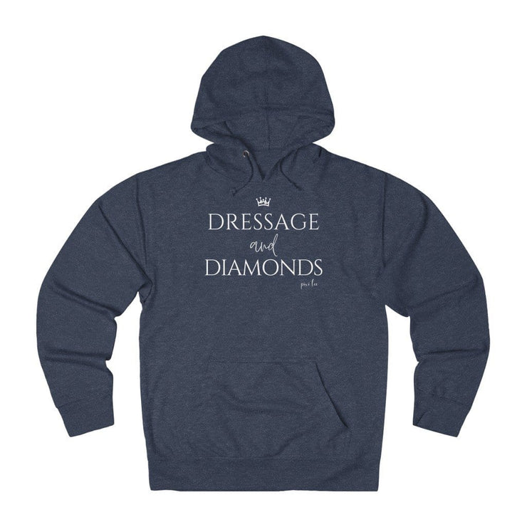 Printify Hoodie Denim Heather / XS Dressage & Diamonds Lightweight Premium Hoodie