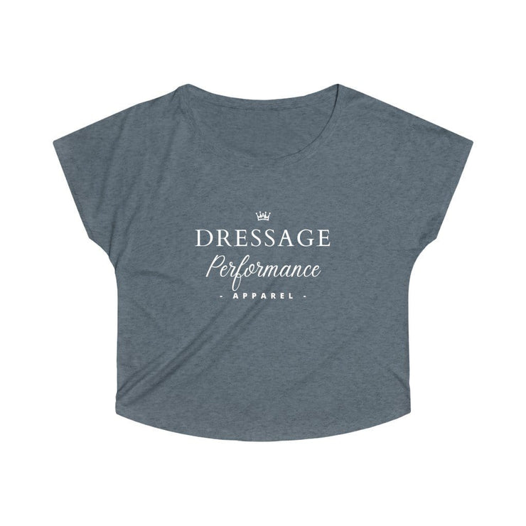 Printify T-Shirt S / Tri-Blend Indigo Dressage Performance Apparel Oversized Tri-Blend Tee
