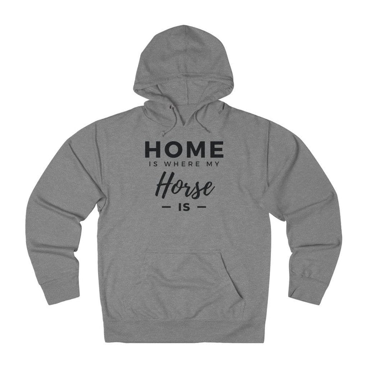 Printify Hoodie Graphite Heather / XS Home is Where My Horse Is Lightweight Premium Hoodie