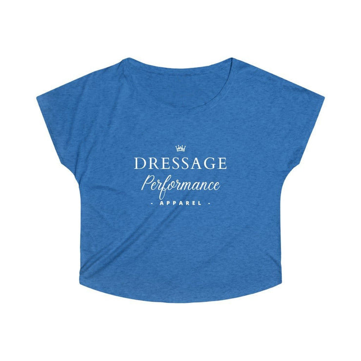 Printify T-Shirt S / Tri-Blend Vintage Royal Dressage Performance Apparel Oversized Tri-Blend Tee