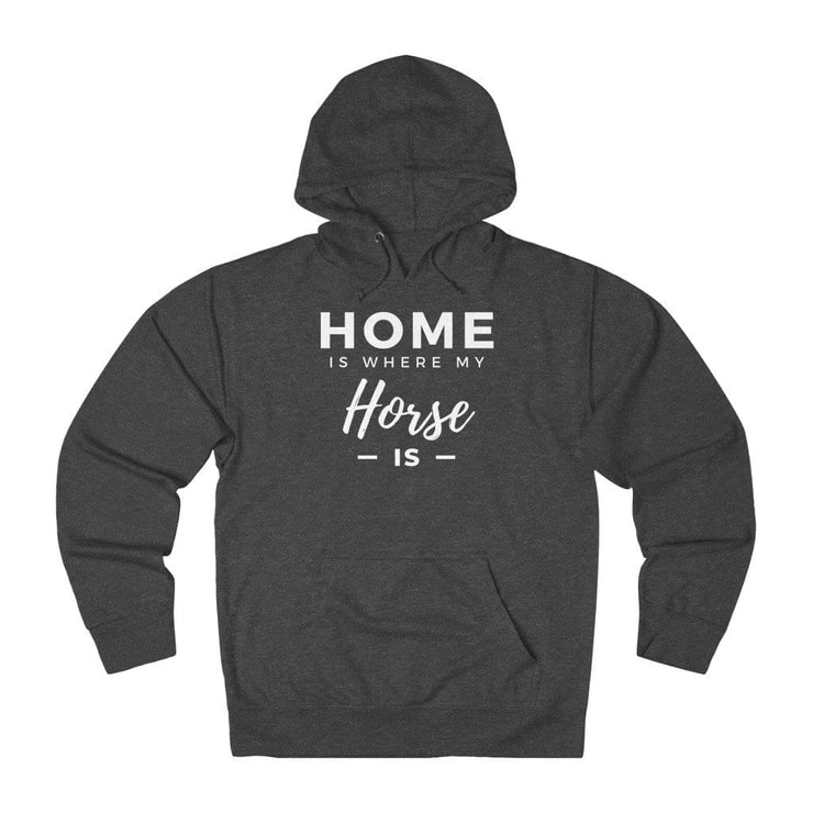 Printify Hoodie Charcoal Heather / XS Home is Where My Horse Is Lightweight Premium Hoodie